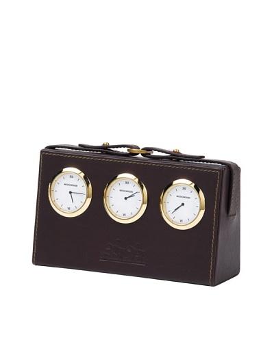 Wedgwood Equestria World Desk Clock, Leather