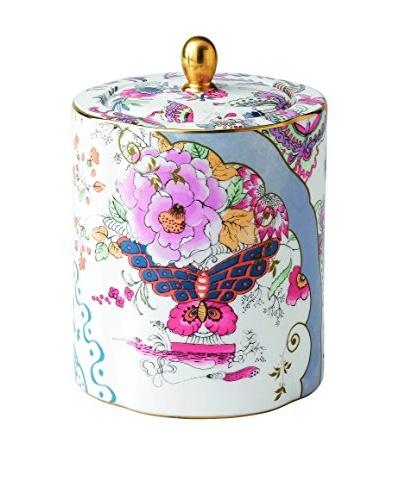 Wedgwood Butterfly Bloom 20.2-Oz. Ceramic Tea Caddy