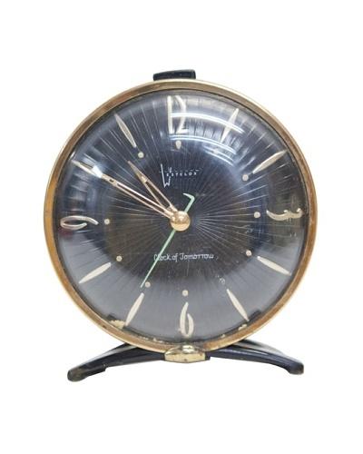 Westclox Vintage Alarm Clock, Gold/Black
