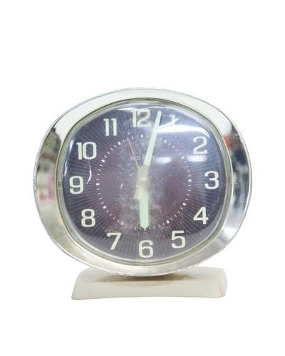 Westclox Vintage Alarm Clock, Beige/Silver