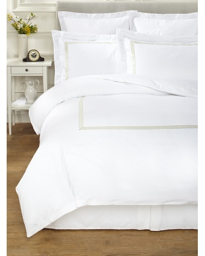 Westport Linens 3-Line Embroidery Combed Cotton Duvet Cover Set [Sage]
