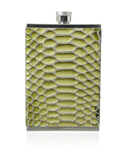 Wilouby Leather Embossed 3-Oz. Slimline Flask