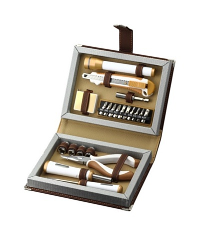 Wilouby 22-Piece Men's Tool Set, Brown