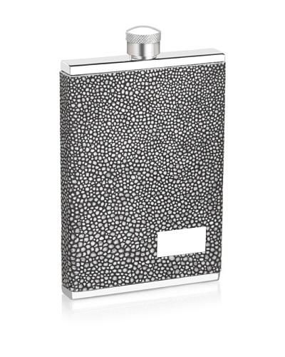 Wilouby 3-Oz. Slimline Flask with Stingray Italian Genuine Leather