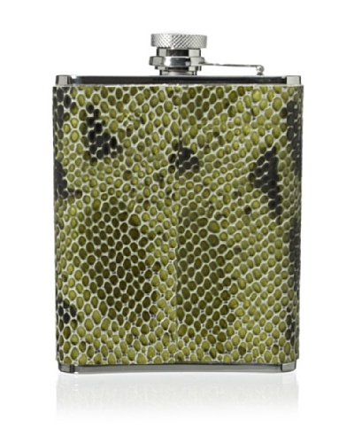 Wilouby Leather Embossed 6-Oz. Flask