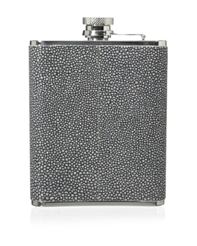 Wilouby Embossed Leather 3-Oz. Slimline Flask
