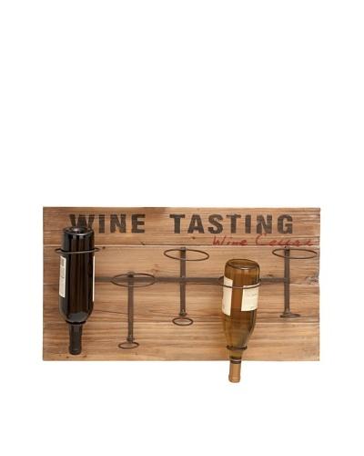 Wine Tasting Upside-Down 5-Bottle Wine Wall Décor