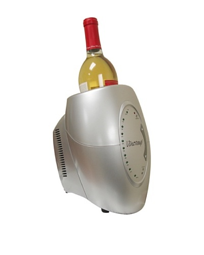 Vinotemp One-Bottle Wine Chiller, Silver