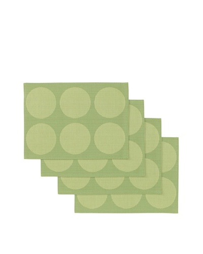 Winkler Set of 4 Rounds Jacquard Placemats [Kiwi]