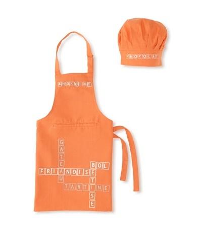 Winkler Friandise Apron and Chef's Hat Set for Kids [Dark Orange]