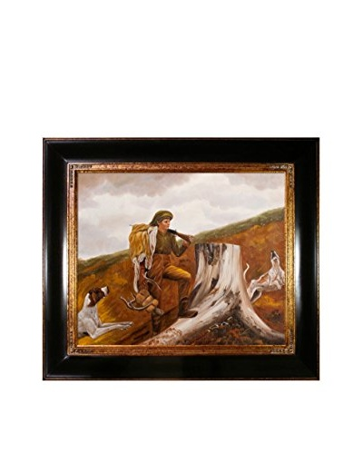"""Winslow Homer """"Huntsman and Dogs"""" Oil Painting"""