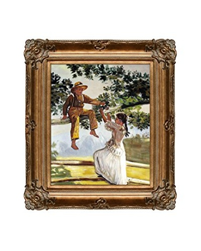 Winslow Homer On The Fence Oil Painting