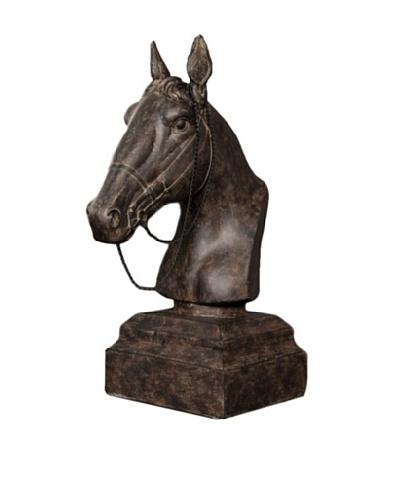 Resin Horse Head Decor, Black