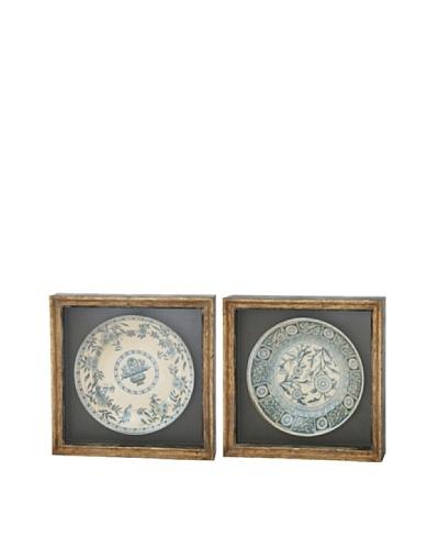 Winward Set of 2 Assorted Framed Antiqued Plates II