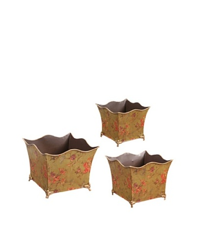 Winward Set of 3 Garden Flower Cache Planters