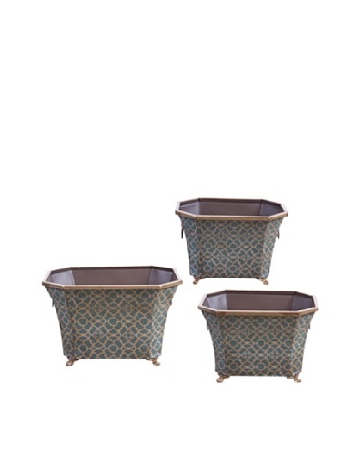 Winward Set of 3 Blue Parisian Planters