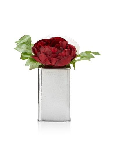 Winward Peonies In Silver Box