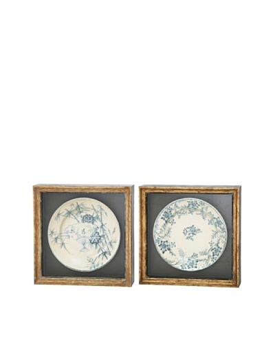 Winward Set of 2 Assorted Framed Antiqued Plates I