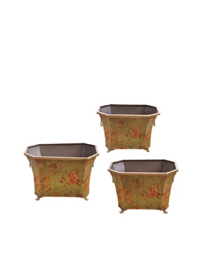 Winward Set of 3 Hand-Crafted Garden Flower Pots