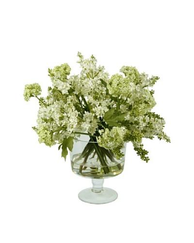 Winward Faux Lilac in Glass, White