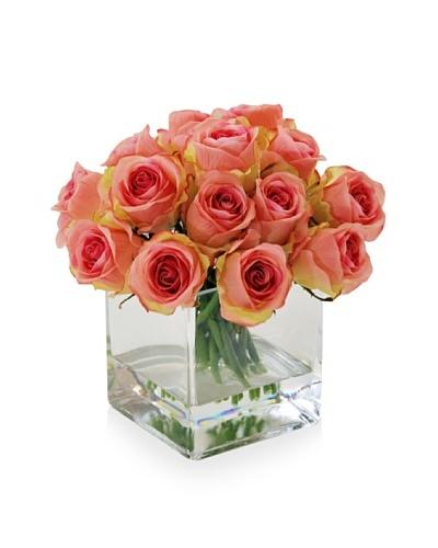 Winward Rose Bud In Square Glass