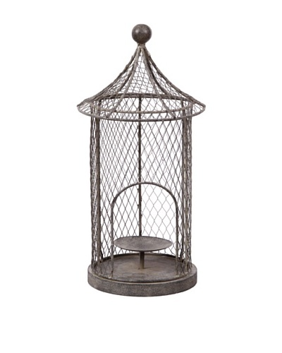 Winward Birdcage Lantern, Antique Grey
