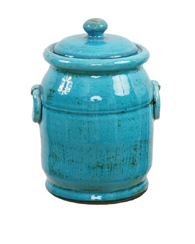 Winward Mini Olive Jar, French Blue