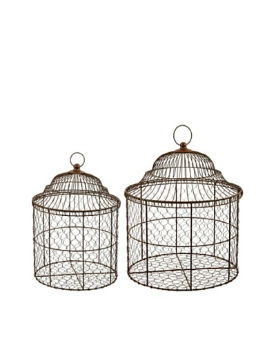 Winward Set of 2 Basket Birdcages