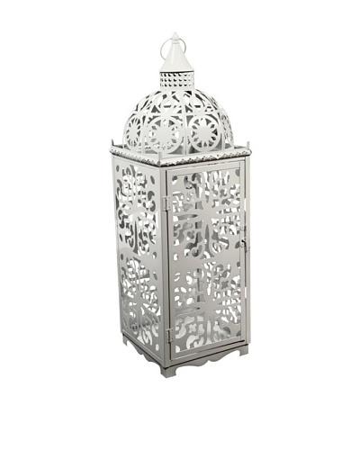 Metal Bohemian Lantern, White