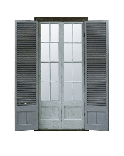 Winward Shutter Window, Wide, Distressed White