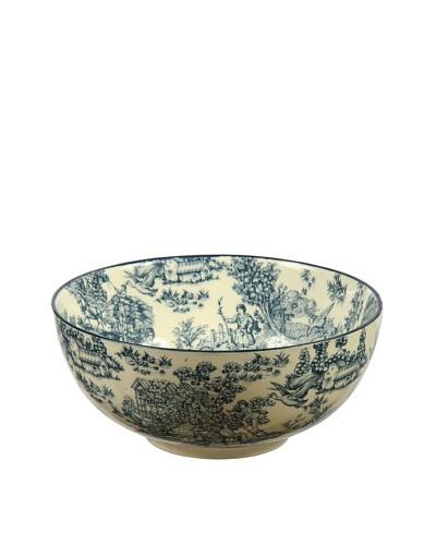 "Winward Toile 12"" Bowl, Blue"