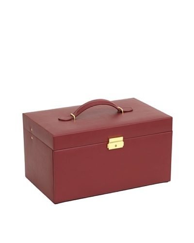 Wolf Designs Large Chelsea Jewelry Case with 6 Drawers [Red]
