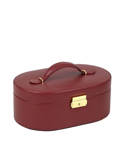 Wolf Designs Chelsea Oval Jewelry Case [Red]