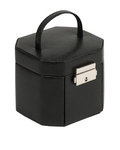 Wolf Designs South Molton Travel Mini Octagonal Jewelry Box [Black]