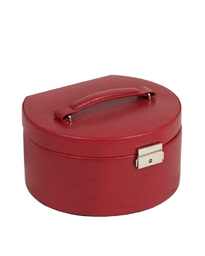 Wolf Designs South Molton Round Jewelry Box with Travel Case [Red]