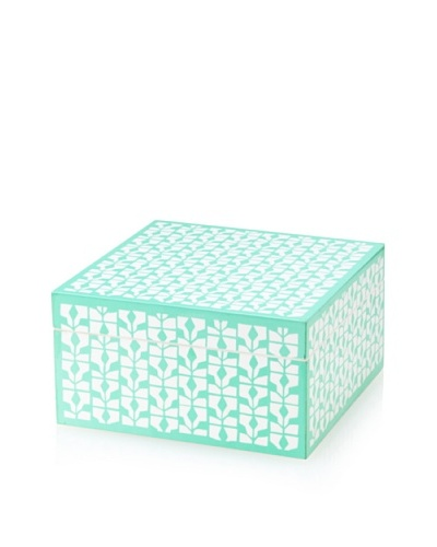 Wolf Designs 1970's Collection Lacquer Jewelry Box, Small [Diva Turquoise]