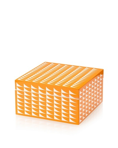 Wolf Designs 1970's Collection Lacquer Jewelry Box, Medium [Fab Orange]