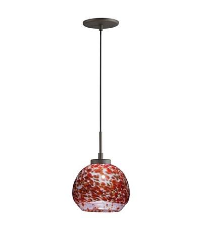 Woodbridge Lighting 1-Light Mini Pendant, Metallic Bronze/Cherry