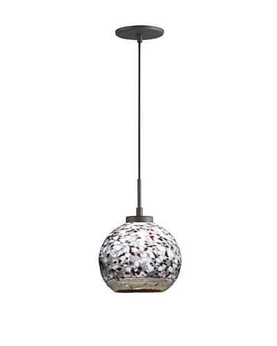 Woodbridge Lighting 13323MEB-BAL102 1-Light Mini Pendant, 7-Inch by 84-Inch Maximum, Metallic Bronze