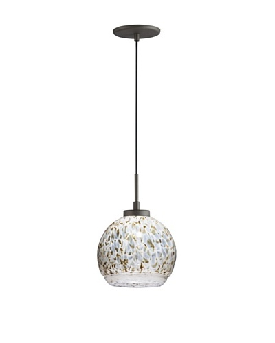 Woodbridge Lighting 1-Light Mini Pendant, Metallic Bronze/Neutral White