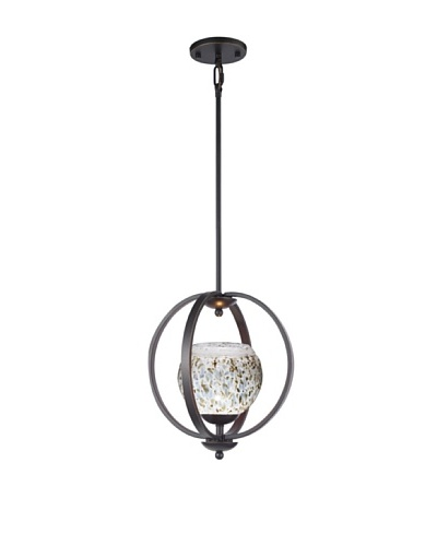 Woodbridge Lighting Geo 1-Light Medium Pendant, Metallic Bronze/Neutral White