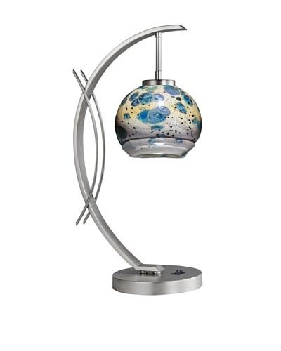 Woodbridge Lighting Eclipse Table Lamp, Satin Nickel/Splash