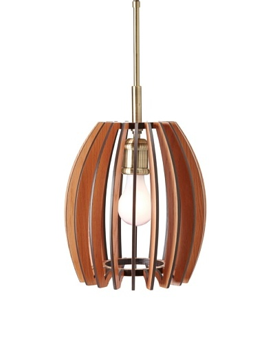 Woodbridge Lighting 14023CBR-W1E1CH Canopy 1-Light Mini-Pendant, Classic Brass