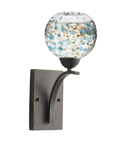 Woodbridge Lighting North Bay 1-Light Wall Sconce, Metallic Bronze/Deep Green
