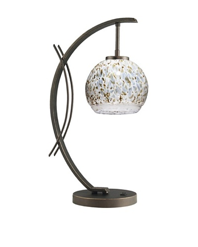 Woodbridge Lighting Eclipse Table Lamp, Metallic Bronze/Neutral White
