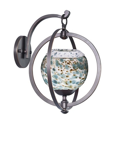 Woodbridge Lighting Cirque Wall Light, Metallic Bronze/Deep Green