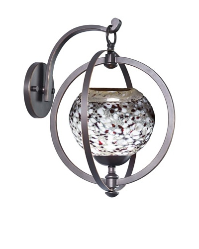 Woodbridge Lighting Cirque Wall Light, Metallic Bronze/Red