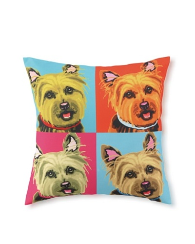 Woofhol Yorkie Pillow