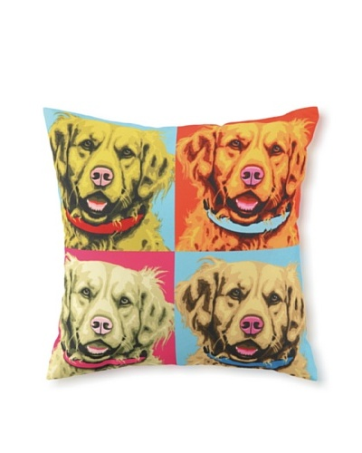 Woofhol Golden Retriever Pillow
