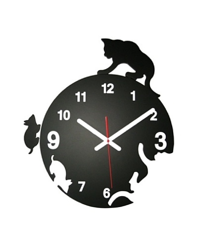 World Friendly World Cat & Mouse Chase Wall ClockAs You See